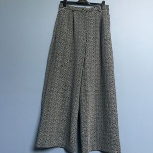 Anthropologie Cartonnier Jacquard Wide-Leg Pants
